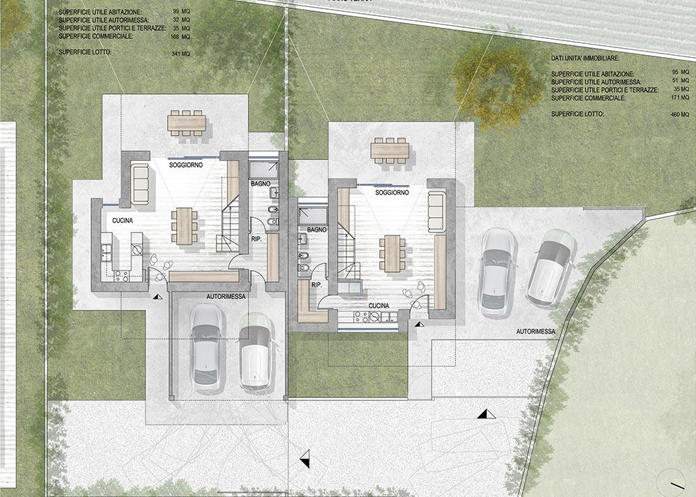 Ville San Vito Progetto Di Tre Nuove Unita Abitative Unifamiliari